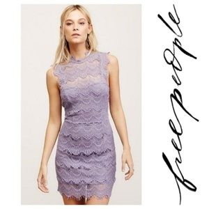 Free People Daydream Bodycon Lilac Dress Sz S